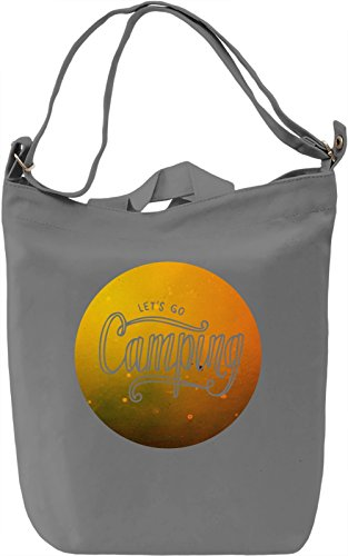 Let's Go Camping Borsa Giornaliera Canvas Canvas Day Bag| 100% Premium Cotton Canvas| DTG Printing|