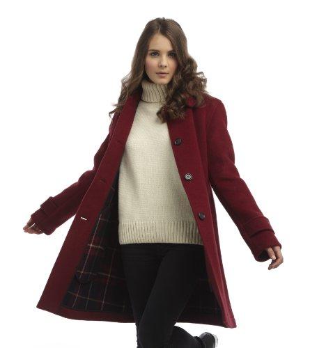 Bordeaux Coat Montgomery Original Femme Paddock Rouge BxqzxYXEw8