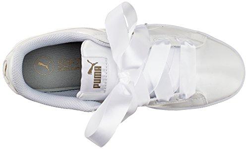 Platform Vikky White puma Puma para Ribbon Blanco Mujer P 2 White Zapatillas Puma p5gdz6wpq