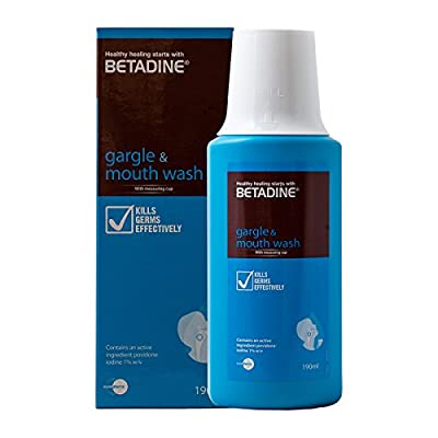 M# Betadine Gargle Mouth Wash 190ml refreshingly flavoured therapeutic