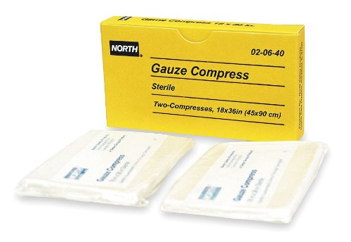 North By Honeywell 020640 Gauze Compress  18 Inch X 36 Inch  2 Per Unit