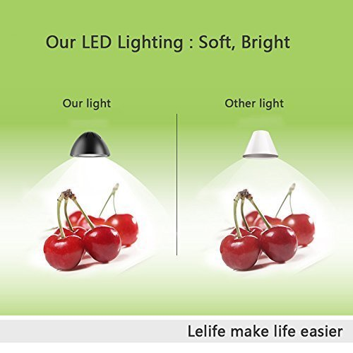 Lelife Brightest Clip On Lamp,Wide Clamp,Easy Clip onto Headboard Or Bedstead,Great Bed Reading Light, 5W Energy-Efficient Warm Yellow LED, 2 Brightness Level,Flexible Gooseneck by Lelife (Image #4)