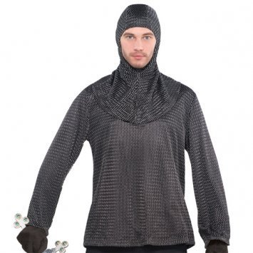 Medieval Tunics For Mens (AMSCAN Chainmail Tunic and Cowl, One)