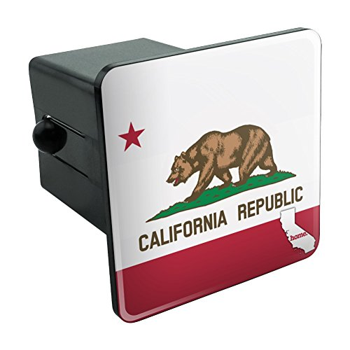 California CA Home State Flag Officially Licensed Tow Trailer Hitch Cover Plug Insert 2