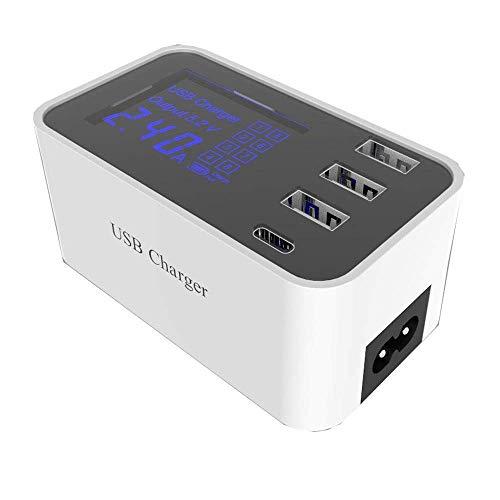 5V 3.5A Multi Port LED Display 3Port USB Charger Hub with Type C Charging Adapter for Smart Phones, Tablets and More USB Devices from HUIJIN