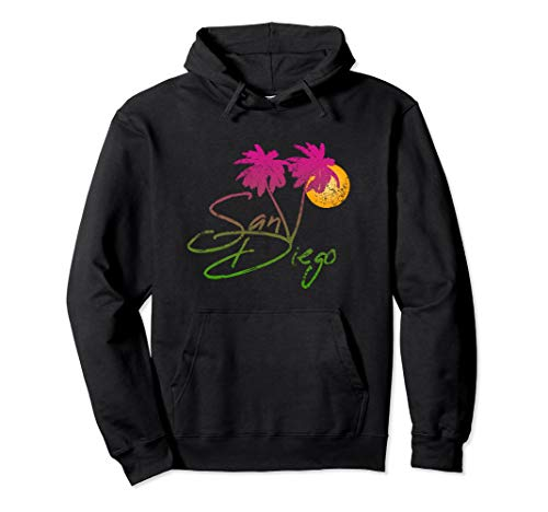 (Perfect San Diego California Lover Palm Trees Gift Hoodie)
