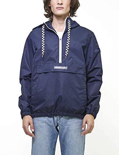 Members Only Men's Lightweight Pullover Windbreaker Jacket, Navy, S - Windbreaker Navy Pullover