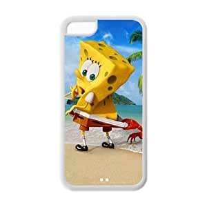 Hardshell Strong Protective Cute Cartoon The SpongeBob Movie Sponge Out of Water Protective Cover Case for Iphone 5C TPU Case-5