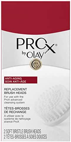 Olay ProX by Olay Advanced Facial Cleansing System Replacement Brush Heads, 2 Count