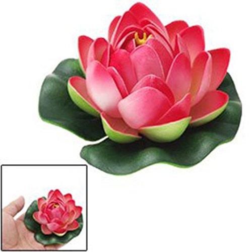 SODIAL(R) Ornamento de decoracion de tanque de pescados Flor de loto rojo de espuma flotante: Amazon.es: Productos para mascotas