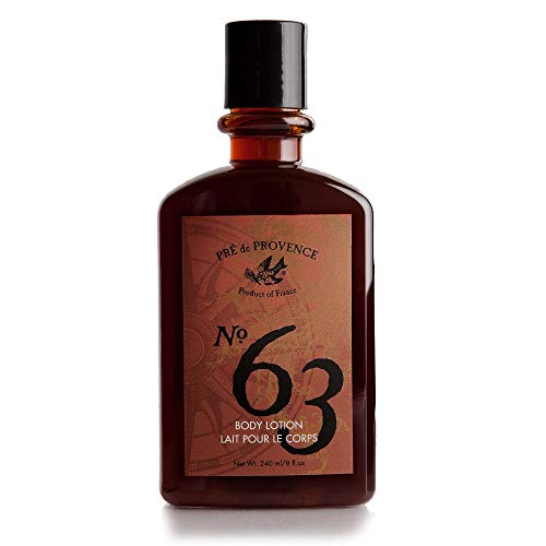 No. 63 Men's Lotion, Aromatic, Warm, Spicy Masculine Fragrance, Enriched With Natural & Repairing Shea Butter & Aloe Vera (8 fl -
