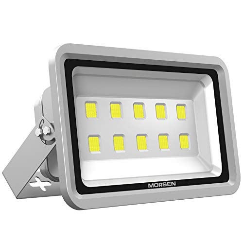 Morsen LED Flood Light 500W IP65 Waterproof Super Bright Sercurity Light for Indoor Outdoor Lighting Daylight Light 6000K for Parking Lot, Garden, Basketball Football Court and Commercial - 500w Light
