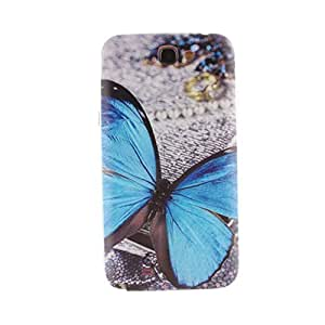 TFS Fashion Relief Painted Series TPU Case Cover Compatible for Samsung Galaxy Note 2 II N7100 (Butterfly)