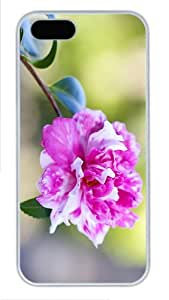 case indestructible camellia macro PC White Case for iphone 5/5S