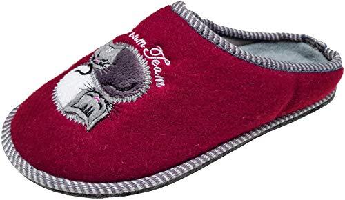 Oscuro Estar Para Mujer Zapatillas Rojo Casa De Por Gibra FvanSfq