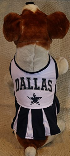 DALLAS COWBOYS CHEERLEADER DOG DRESS OUTFIT ALL SIZES LICENSED NFL (Dallas Cowboy Cheerleader Outfits)