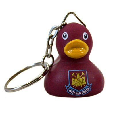 West Ham United F.C. Mini Duck Keyring by West Ham United F.C. (West Ham Keyring)