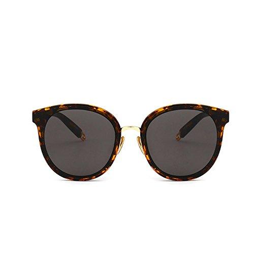 Protección De Estrella Gafas Pareja UV Leopard Sol Gafas CTao Estilo Sol Planas Gafas Moda De Leopard Callejero Gafas 56wqxOzd