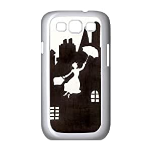 Mary Poppins Silueta C1K63O1UW funda Samsung Galaxy S3 9300 funda caso 6CVJCS blanco