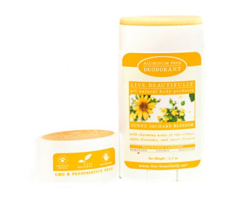 Live Beautifully Natural Deodorant - Sunny Orchard Blossom - Aluminum - Live Sunnies