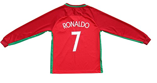 fc102d5ca9c 2015 Portugal Cristiano Ronaldo  7 Home Football Soccer Kids Jersey Short  Socks Set Youth Sizes