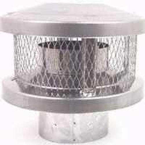 New American Metal Ameri-tec 8hs-rcs 8 Inch Chimney Stove Round Vent (Metal Vent Cap)