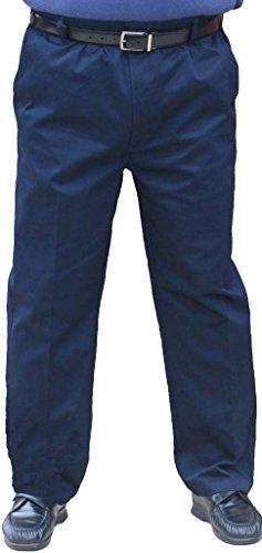The Senior Shop Mens Full Elastic Waist Twill Pant With Zipper   Belt Loops