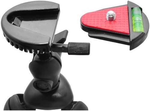 HF M400 /& HF M500 Full HD Camcorders w// HeroFiber Ultra Gentle Cleaning Cloth 12 Flexible Wrapable Legs Tripod with Quick Release Plate and Bubble Level Red//Black HF M40 for Canon Vixia HF M31 HF M300 HF M50