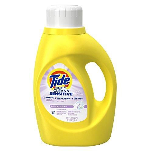 Tide Liquid Laundry Detergent, Simply Clean & Sensitive, 40 Ounce