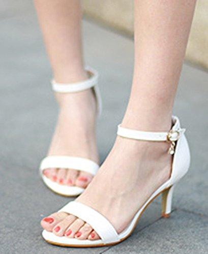 122b4e2ee65d IDIFU Women s Sexy Pendant Ankle Strap Buckle Stiletto Kitten Heel Sandals  Open Toe Shoes durable modeling