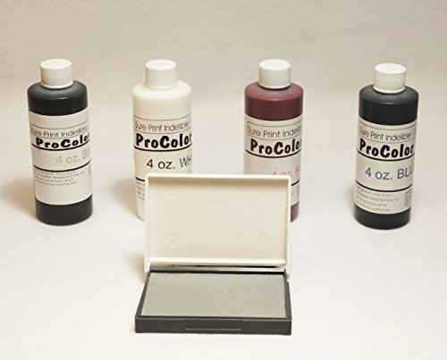 Fabric Permanent Ink | Indelible Ink | 4oz (INCLUDES FREE DRY PAD) by Holmes Stamp & Sign