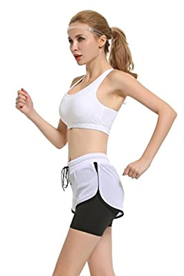 The Twins Dream Running Shorts for Women - Workout Shorts Athletic Shorts Women Activewear 2-in-1