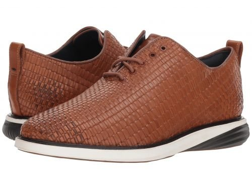 Cole Haan(コールハーン) メンズ 男性用 シューズ 靴 スニーカー 運動靴 Grand Evolution Woven Oxford - British Tan Woven Leather/Ivory/Dark Roast [並行輸入品] B07C9SL5TH