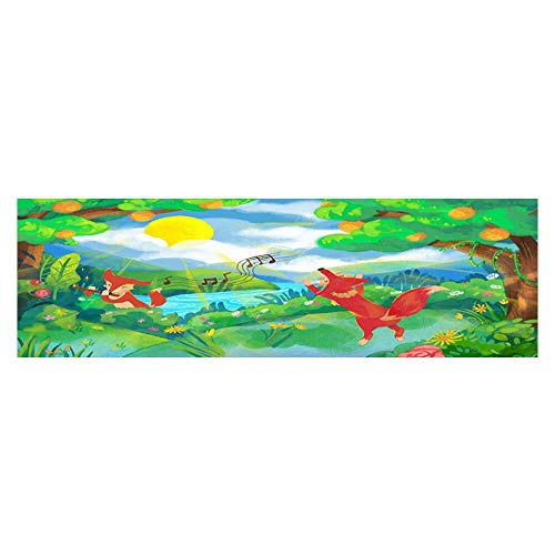 Poster Aquarium Background Backdrop PVC Adhesive The Forest in The Spring Sticker Wallpaper Fish Tank L29.5 x H11.8 ()
