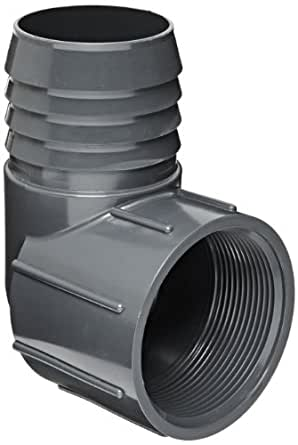 Spears 1407 Series PVC Tube Fitting, 90 Degree Elbow