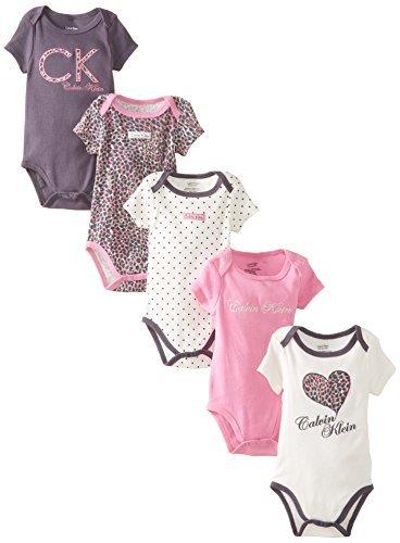 designer fashion 015f2 df8b0 Calvin Klein Baby-Confezione di 5 body per neonato, da ...
