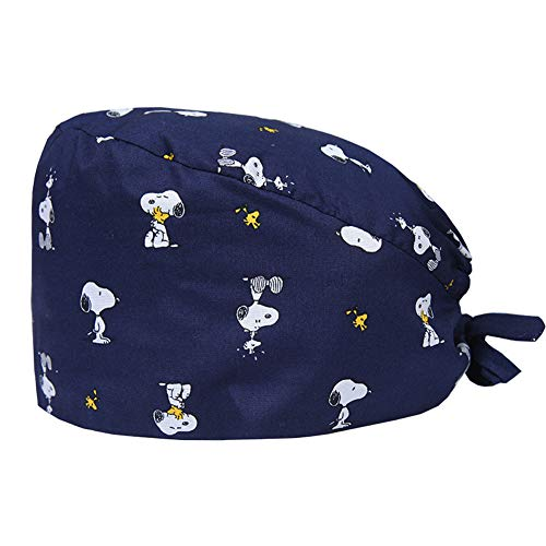 BUTITNOW Doctor Nurse Scrub Cap Surgical Hat Unisex Landscape Animal Print Medical Uniform Cute Pattern