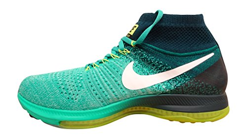 Nike Mens Zoom Out Flyknit Scarpa Da Corsa Verde (clear Jade / White-midnight Turq-volt 313