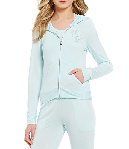 - Blue by Betsey Women's Johnson Rhinestone Mrs. Bow & Ruffle French Terry Lounge Hoodie