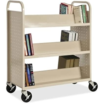 Lorell Double Sided Book Cart