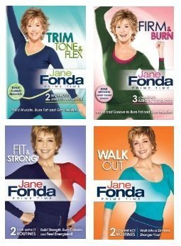 Jane Fonda 4 DVD Collection: Prime Time Walkout/Fit & Strong/Trim, Tone & Flex/Firm & Burn