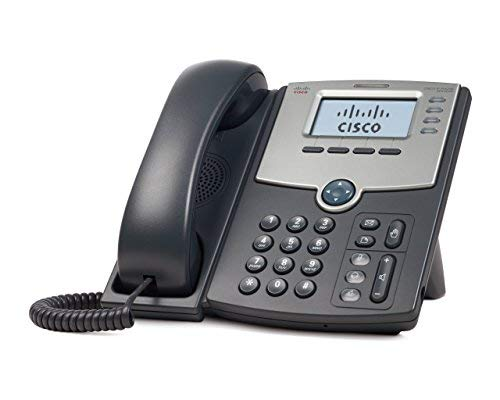Cisco SPA504G 4-Line IP Phone with 2-Port Switch, PoE and LCD Display, Silver, Grey (Certified Refurbished)