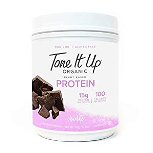 Tone It Up Organic Protein Powder for Women | Supports Weight Loss and Lean Muscle | 100% Vegan, Plant Based, Gluten Free, Kosher, Non GMO, Sugar Free | 15g of Protein