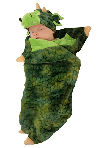 [Princess Paradise Unisex Baby Swaddle Wings Darling Dragon, Green, 0/3 Months] (Dragon Girl Costume)