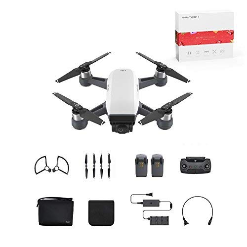 DJI Spark Mini Quadcopter Drone Fly More Combo with Free 16GB Micro SD Card, Alpine White