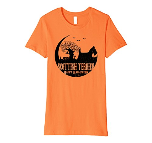 Womens SCOTTISH TERRIER Dog Halloween Costume T-shirts XL Orange
