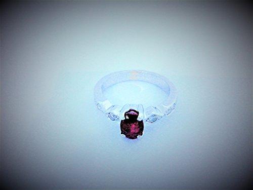 bague rubis diamant or blanc 18k-750/1000 Gold