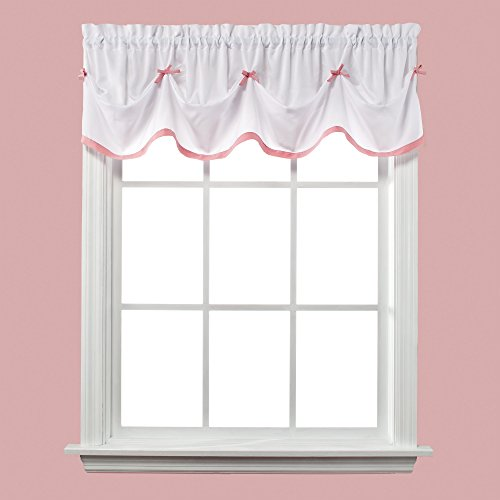 SKL Home  by Saturday Knight Ltd. Kayla Valance, Pink,  58 inches x 13 inches ()