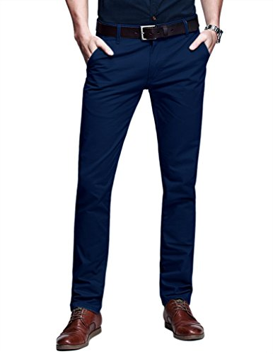 Match+Mens+Slim-Tapered+Flat-Front+Casual+Pants%2830W+x+31L%2CDark+blue%231%29