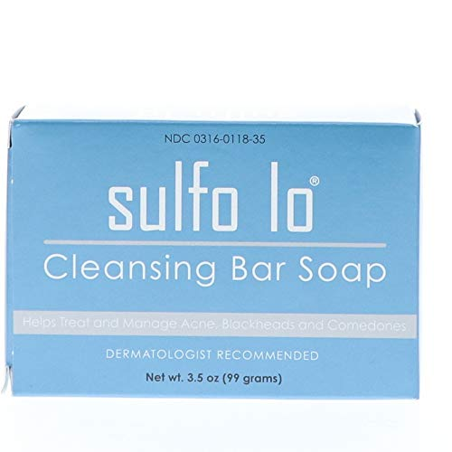 Sulfo Lo - Topical Cleansing Bar Soap for Multiple Skin Conditions - 3.5 oz Bar